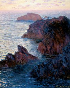 Rocks at Belle-Ile, Port-Dormois by Claude Monet