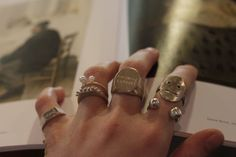 These beautiful and unique rings are from Australian artist Seb Brown // Supporting Australian Jewellers.