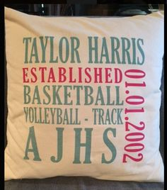 Our Signature Canvas Pillow is great for displaying your kid's hobbies and interests!