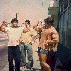 Bill Grant and Arnold Schwarzenegger
