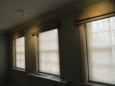 simple sheer panels for privacy, blackout lined and interlined roman blinds for a house in Mayfair. Paneling, Window Treatments, Blinds, House, Home, Interior, Roman Shade Curtain, Sheer Panels, Home Decor