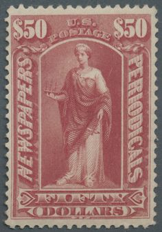 United States - Newspaper stamps 1895,