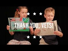 We can never say thank you enough to our vets - but we can still try! Video of kids reading letters thanking WWII vets.