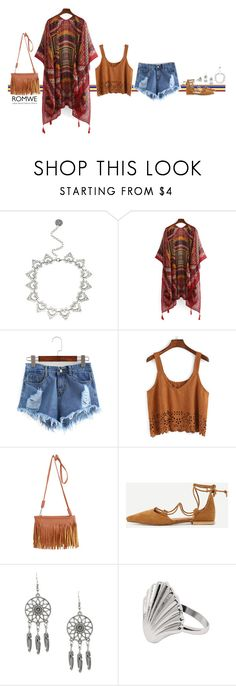 Romwe boho by blueeyed-dreamer on Polyvore featuring contest, boho, romwe and kimono