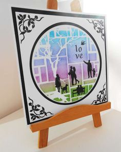 Crafty Linby: Love @ Clarity stamp challenge