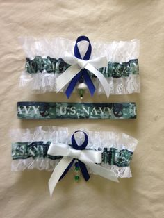 U.S. Navy Garter by SportzNutty on Etsy