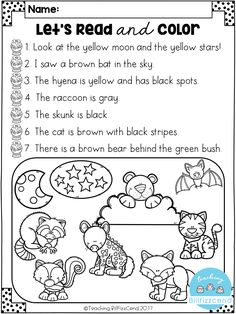 FREE Read and Color Listening Comprehension These are super duper cute read and color pages. Perfect for your first grade students. These can also be used as listening comprehension for your kindergarten students. Reading Comprehension Activities, Comprehension Worksheets, Reading Fluency, Reading Centers, Teaching Reading, Free Reading, Literacy Centers, Reading Response, Comprehension Strategies