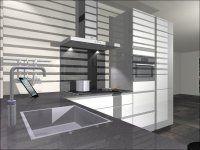 visual 4 - U-Keuken 265x275x307cm, keukenmeubelen, 5 inbouwapparaten, composiet werkblad
