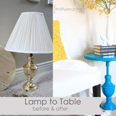 How to repurpose an {Old Lamp} into a {Table!}