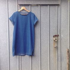 Denim Inari Tee Dress by Diane in lightweight denim.
