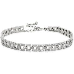 Kenneth Jay Lane Swarovski Crystal-embellished Silver Tone Choker (1.150 BRL) ❤ liked on Polyvore featuring jewelry, necklaces, chokers, swarovski crystals necklace, kenneth jay lane jewelry, silvertone necklace, kenneth jay lane and swarovski crystal jewellery