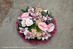Grouped posy funeral design