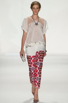 print  net   translucency   Rebecca Minkoff Spring 2014 Ready-to-Wear Collection Slideshow on Style.com