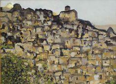 Sicilia orientale 東シチリア島 Ragusa . La ricerca dei Re è fuori dalle Chiese . Painting  of Piero Petillo
