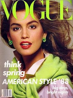 cindy crawford cover of vogue 80's