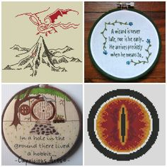 bookriot.com bookish cross stitch patterns. They featured my cross stitch pattern on their website!!! Lonely mountain and Smaug, Middle Earth