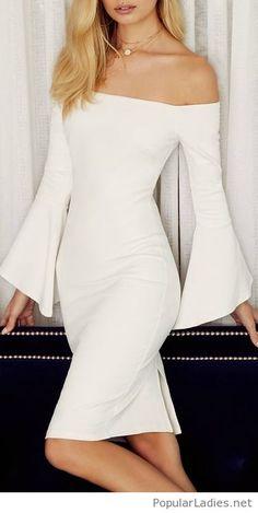 Simple white dress, I love the design Elegant Dresses, Cute Dresses, Casual Dresses, Dress Outfits, Fashion Dresses, Dress Up, Simple White Dress, Prom Dresses With Pockets, Classy Dress