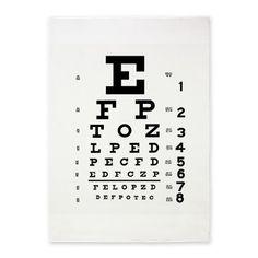 Eye Chart 5x7'Area Rug on CafePress.com