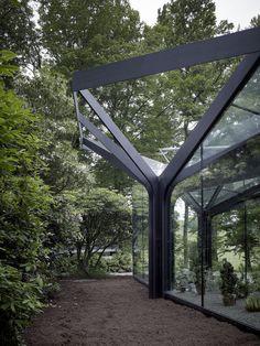 JA+U : Greenhouse at Grüningen Botanical Garden by Buehrer Wuest Architekten © Markus Bertschi Fotografie