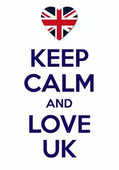 keep calm and love UK / Created with Keep Calm and Carry On for iOS #keepcalm #UnitedKingdom #UnionJack