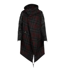 CHECK GABOURY PARKA FRONT outer body 20% italian virgin wool 20% polyamide, sleeve 100% leather, body lining 100% cotton, sleeve lining 100% polyester All Saints Spitalfields Fall 12