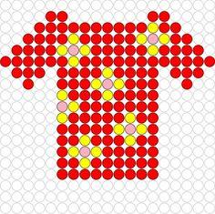 T-shirt perler bead pattern Hama Beads Patterns, Beading Patterns, Melting Beads, Perler Bead Art, Pearler Beads, Pony Beads, Lego, Plastic Canvas Patterns, Preschool Activities