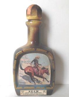 The Cowboy 1979 Jim Beam Decanter Frederic Remington Empty #JimBeam