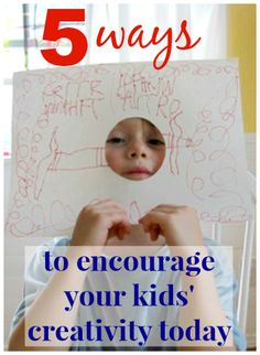 Such simple ideas for encouraging creativity in children -- I especially like the 2nd one!