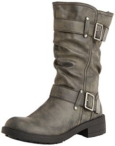 UK Gifts for Women - Rocket Dog Trumble, Women's Slouch Boots, Black (Galaxy Black), 6 UK (39 EU). It is an Amazon affiliate link.