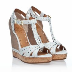 ASH Womens Flavia Wedge Sandal White Leather  only sale:$150.50 now! what r u waiting 4?