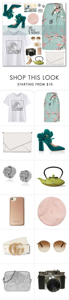 """Tee"" by cowseatchard ❤ liked on Polyvore featuring Kendall + Kylie, Rochas, Old Dutch, Karen Millen, Gucci, Ted Baker, Napoleon Perdis and MyFaveTshirt"