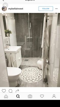 Is your home in need of a bathroom remodel? Give your bathroom design a boost with a little planning and our inspirational Most Popular Small Bathroom Remodel Ideas in 2018 Upstairs Bathrooms, Laundry In Bathroom, Downstairs Bathroom, Bathroom Renos, Simple Bathroom, Bathroom Interior, Dyi Bathroom, Small Basement Bathroom, Small Bathroom Ideas