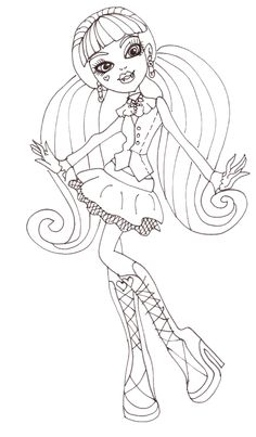 Draculaura Coached His Dance Coloring Pages