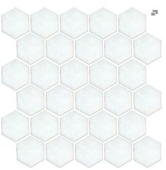 Octagon matte white with black 2 5 x 2 5 in per for Carrara marble per square foot