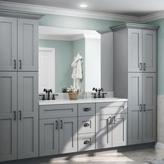 Tremont Assembled Base Cabinet With 1 Rollout Tray 2 Soft Close Drawers 2 Soft Close Doors In Pearl Gray Gray Painted