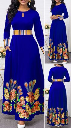 Most popular beautiful dress vintage high waist Ideas Long African Dresses, African Lace Styles, Latest African Fashion Dresses, Women's Fashion Dresses, Outfits Dress, Ankara Fashion, African Style, Ankara Styles, Fashion Fashion