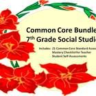 Get all 3 Common Core Mastery documents for 7th Grade Social Studies, sold together here or individually. 76 PDF pages include formative assessmen...