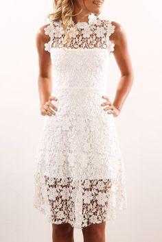 Mellow Dress White