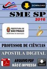 Apostila Digital Concurso SME SP Professor de Ciencias 2016