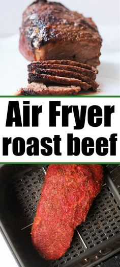 Air fryer roast beef with a dry rub comes out tender and delicious on the inside with a bit of crisp on the outside. Perfect for sandwiches. #roastbeef #airfryerroastbeef #ninjafoodiroastbeef Best Beef Recipes, Delicious Dinner Recipes, Brunch Recipes, Meat Recipes, Yummy Food, Grilled Prime Rib, Slow Cooker Italian Beef, Friend Recipe, Shellfish Recipes
