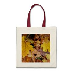 Fallen Maple Leaves Tote Bag - unusual diy cyo customize special gift