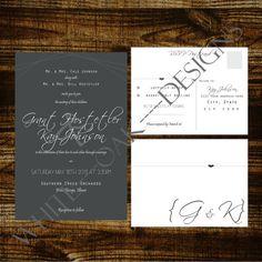 Digital Wedding Invitation Set- pretty, pretty