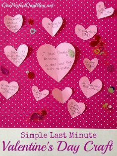 """Easy Valentine's Day craft for kids - """"14 Reasons Why I Love You"""". What a sweet and simple gift."""