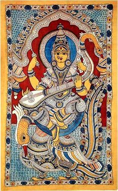 Indian Painting Styles...Kalamkari Paintings (Andhra Pradesh)-saraswathi1-5-.jpg