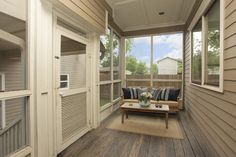 The screened in patio is a great spot for al fresco dining or to enjoy your morning coffee.