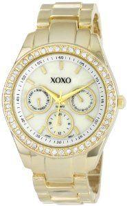 #2: XOXO Women's XO5302A Rhinestone Accent Gold-Tone Bracelet Watch
