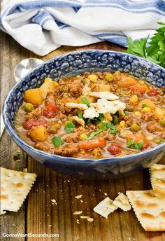 Hamburger Soup is a home-style, hearty meal sure to satisfy healthy appetites and stir up happy memories of Grandma's house. My Grandma always had something special bubbling or baking away in her kitchen. Her cooking has definitely inspired a great deal of mine, and one of my first memories is sitting down to enjoy a …