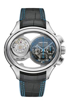 The Hamilton Jazzmaster Face 2 Face - The Watch With 2 Faces Fine Watches, Cool Watches, Rolex Watches, Bracelet Nato, Bracelet Cuir, Hamilton Jazzmaster, Hand Watch, Watch 2, Luxury Watches For Men