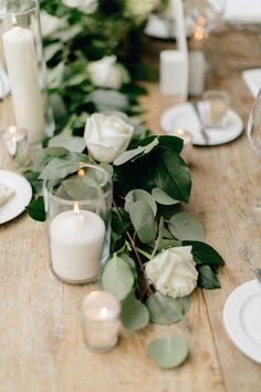 Inspiração de decoração para centro da mesa - Casamento