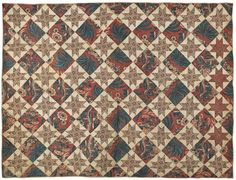 Virginia chintz star quilt, ca. 1840, signed verso Julia Martin, 59'' x 77'', Pook & Pook, Live Auctioneers